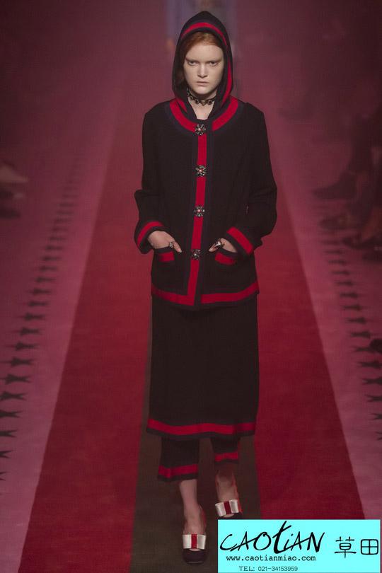时尚秀场_米兰时装周_Gucci 2017春夏_上海女装设计公司