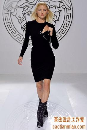 米兰时装周versace 2013秋冬高级成衣上海服装工作室